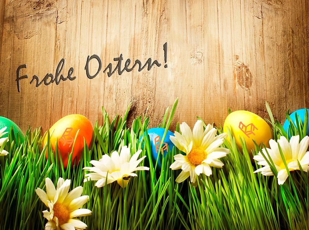 Schöne Ostern mit Holz