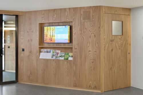 Umbau Bank Raiffeisen Fiesch Enpfang