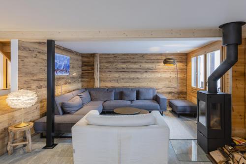 Umbau Chalet Oberwallis wohnstube