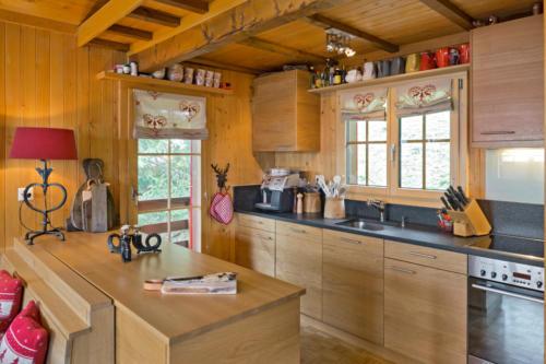 Umbau Chalet in Bellwald Küche umbauen